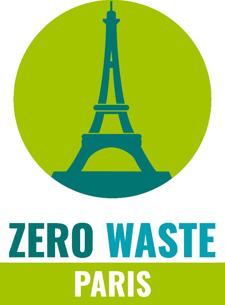 Logo de Zero Waste Paris, version avec le texte sous le médaillon.